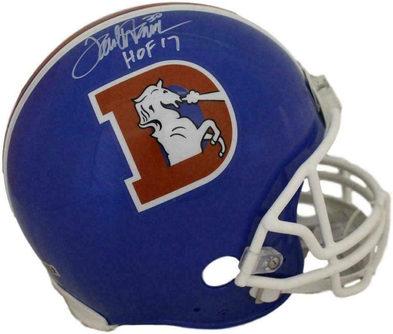 Terrell Davis Signed Helmet  D Logo Proline HOF RAD 22136  Autographed NFL Helmets