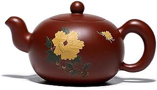 Handmade Purple Sand teapot Oriental Purple Sand teapot Clay teapot Guose Tianxiang Dahongpao-red
