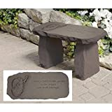 Design Toscano Leave a Path Cast Stone Memorial Garden Bench