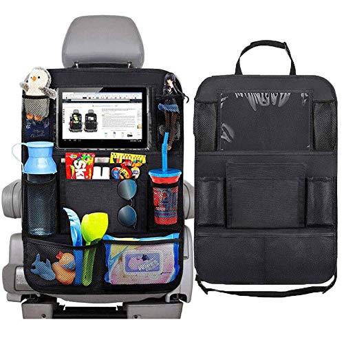 車用収納ポケット大容量 シートバックポケット 収納バッグ 収納ホルダー レザー製 後部座席の収納防水防汚多機能