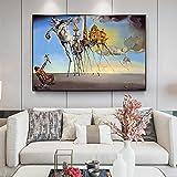 HWNU Pinturas En Lienzo Carteles e Impresiones de Arte de Pared Famosos de Salvador Dalí la tentación de San Antonio Imagen de Arte clásico decoración del Dormitorio del hogar Sin Marco