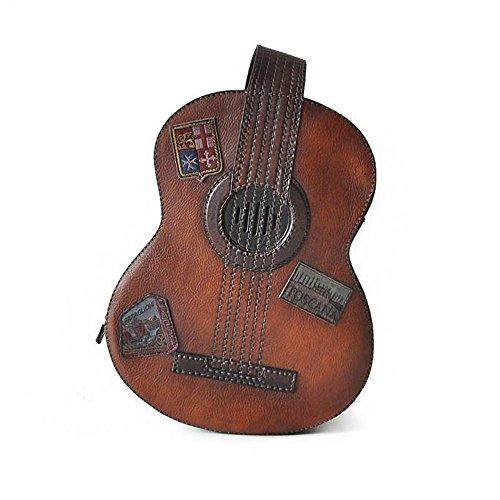 Pratesi Gitarre Italienischer Leder Kleiner Rucksack (braun)