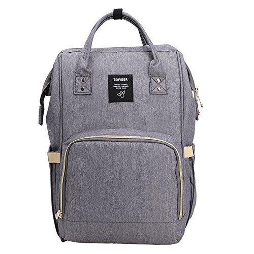 BigForest Mummy Sacs ¨¤ Dos ¨¤ Langer pour B¨¦b¨¦ Sac Travel Bag Multifunction Baby Diaper Nappy Changing Dark Grey sac ¨¤ main tote bag