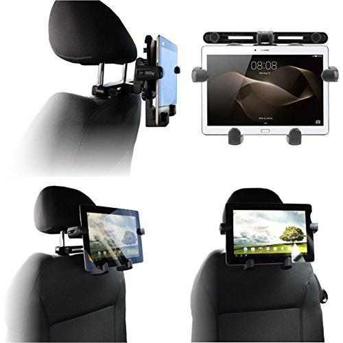 Navitech tragbar In Auto Kopfstütze/Rücksitz Schwarz Expandable Feste Griff Halterung für die iRULU 10.1