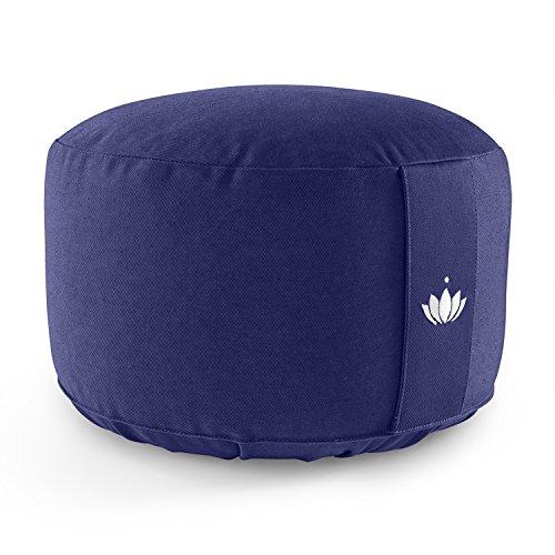 Lotuscrafts Yogakissen Meditationskissen Extra Hoch - Sitzhöhe 20cm - Waschbarer Bezug aus Baumwolle - Yoga Sitzkissen mit Dinkelfüllung - GOTS...
