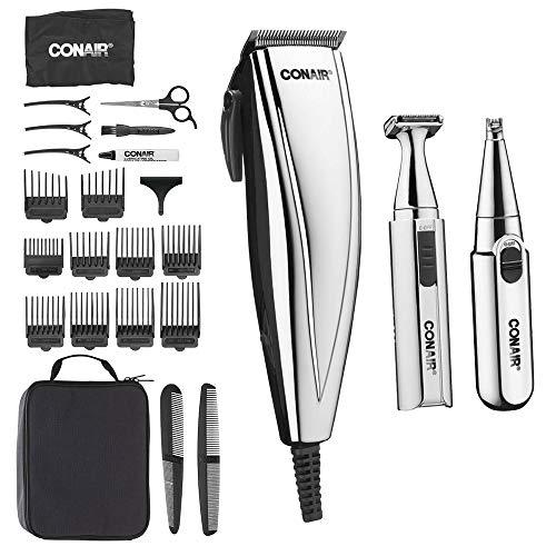 Conair 25-Piece 3-in-1 Chrome Clipper, Trimmer & Nose/Ear Detailer -  CON-HCT401N