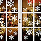 ❄Pacchetto: si ottengono 4 fogli adesivi per vetrofanie originali (totalmente 108 pezzi), 12 diversi adesivi statici con fiocco di neve, originali e unici, ideali per decorazioni natalizie. ❄Dimensioni: questi adesivi murali a forma di fiocco di neve...
