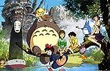 AXKQ DIY diamond painting cartoon anime character set, 5D round diamond cross stitch mosaic wall decoration holiday gift(19.7x27.6inch)