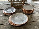 Camping Geschirrset für 4 Personen aus Melamin Picknick Geschirr Campinggeschirr Tafelgeschirr Terra Cotta Style - 5