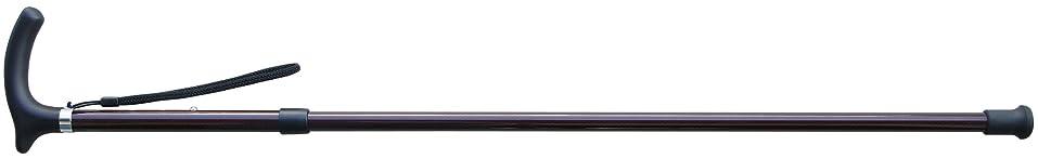 サークル増幅器技術者軽量カーボン木製グリップ杖 KSF-2000C (レッド) 77-87cm