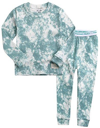 VAENAIT BABY Kids Boys 100% Cotton Sleepwear Pajamas 2pcs Set Prism Sky M