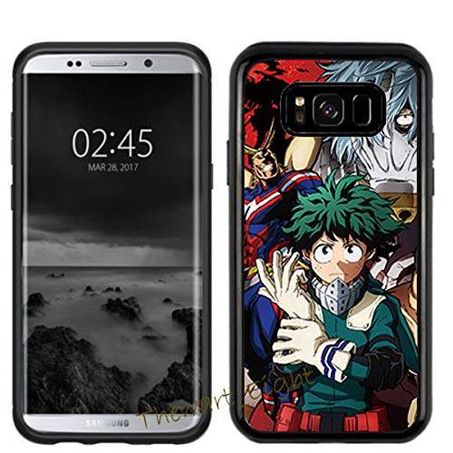 Case for Samsung Galaxy S8, My Hero Academia Manga Anime Comic PC + TPU 2 in 1 Hybrid Case Cover (#04 Black)