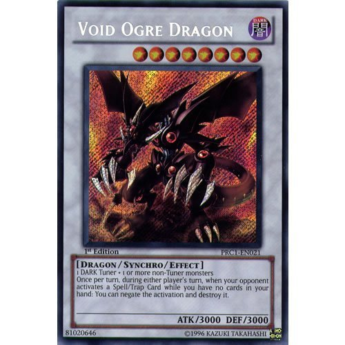 Deckboosters YuGiOh : PRC1-EN021 1st Ed Void Ogre Dragon Secret Rare Card - ( Yu-Gi-Oh! Single Card)