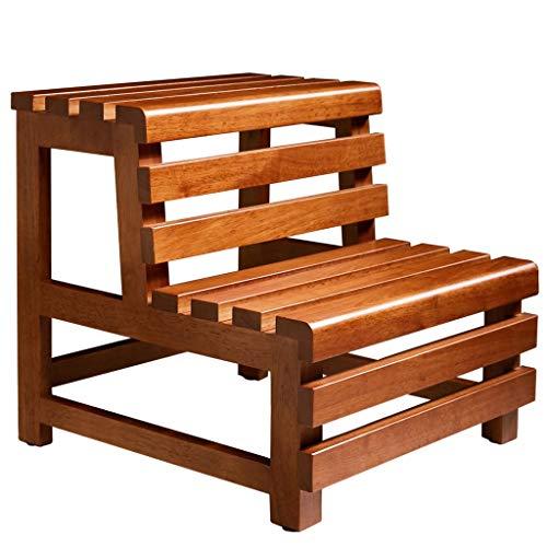 L-DZJUYILXY Step Stool Home Interior Wooden Utility Passo Double Step Solido en betrouwbaar, waterdicht en corrosiebestendig