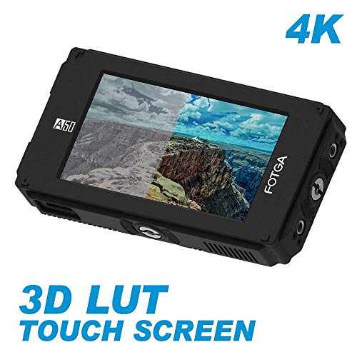 Fotga A50TLS 5 Inch FHD IPS DCI-P3 Wide Color Gamut Video On-Camera Touch Screen Field Monitor,3D LUT, 3G SDI & HDMI 4K Input/Output,1920x1080,700nit,Dual NP-F Battery Plate fr DSLR Cinema Camera