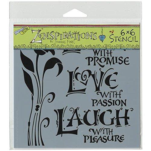 The Crafter 's Workshop 6x 6Live Love Laugh Schablone, schwarz/weiß