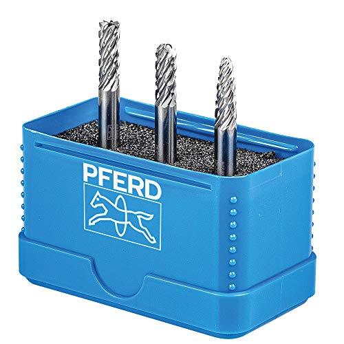 PFERD HM-Frässtift-Set, 3-teilig, Zahnung ALLROUND, Schaft-ø 6 mm, Frässtift-ø 6mm, 21901406 – für den vielseitigen Einsatz auf den wichtigsten Werkstoffen