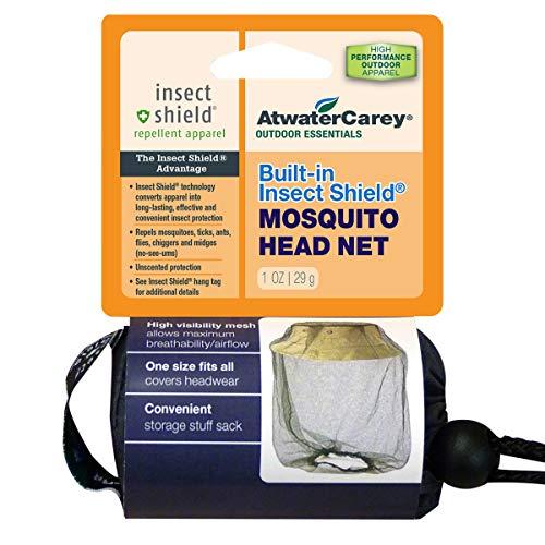 ATWATER CAREY Moskitonetz mit Insektenschutz, Permethrin-Abwehrmittel, grünes Netz, hohe Sichtbarkeit, Mehrfarbig, Einheitsgröße