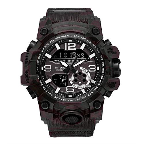 YUN Reloj de la maquinaria de Camuflaje al Aire Libre Electrónica de Las Fuerzas Especiales del Reloj del Reloj Hombre Fecha de múltiples Funciones Impermeable de los Deportes tácticas Inteligentes
