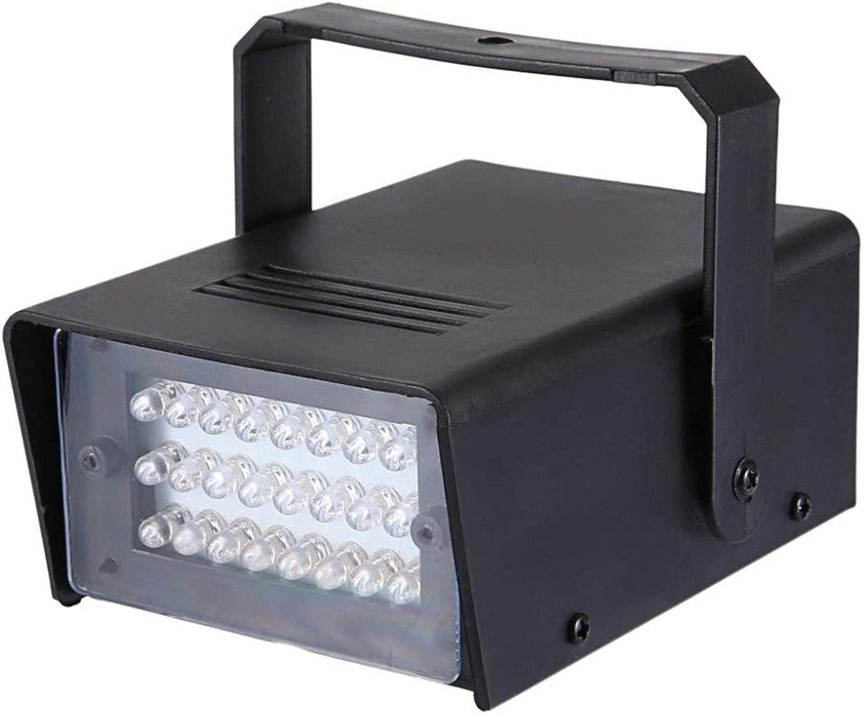 Laogg Discokugel Party Lampe, Praktische Mini-3W 24-LED-Bühneneffekt-Blitzlampe
