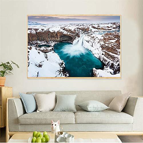 Cuadro En Lienzo Cuadro en Cascada Cartel Moderno y decoración para salón,30x45cm,Pintura sin Marco