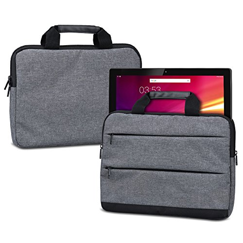 NAUC Laptoptasche Hülle für HANNSpree HANNSPad Titan 2 13,3 Schutzhülle Sleeve Tragetasche mit Handgriffen & Zubehörtaschen, Farbe:Dunkelgrau