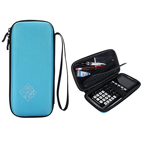 MASiKEN Hard EVA Carrying Case for Texas Instruments TI-84 Plus/TI-83 Plus CE Graphing Calculator, More Space for Pen and Accessory (Blue)