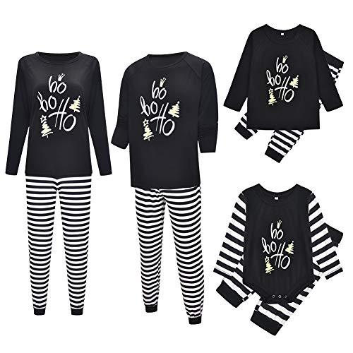Pijama Familiar de Navidad Invierno Dos Piezas Pantalon y Camiseta Conjunto Mama Papa y Bebe Ropa Igual para Toda...