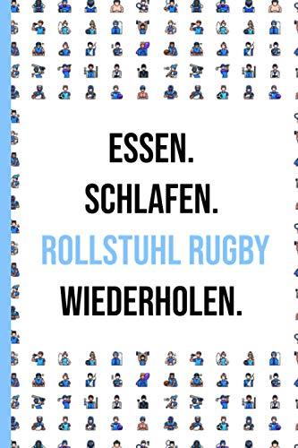 Rollstuhl Rugby Notizbuch: Matte finished Notizen Gefüttert Journal - Notizen-System für Frauen Männer Teen Mitarbeiter oder Schulfreund | 6x9 inch - 120 Seiten