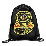 PmseK Mochila con Cordón,Bolsas de Gimnasia, Cobra Kai Dojo Drawstring Backpack Sack Pack...