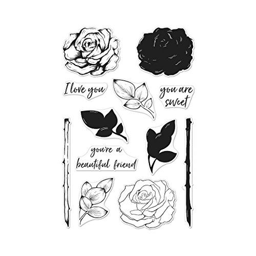 Hero Arts CM243 Clear Stamp Set, Color Layering Rose, 4' x 6'