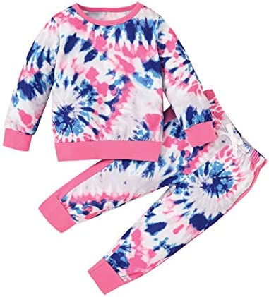Toddler Girls Clothes Baby Girl Fall Outfits Pink Sweatsuit 2 Sets product image