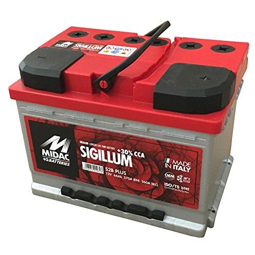 MIDAC SIGILLUM Starterbatterie S2B Plus 12V 62AH Doppeldeckel EINZELZELLEN-Labyrinth Batterie