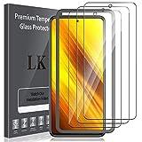 LK Compatible con Xiaomi Poco X3 NFC/Xiaomi Poco X3 Pro Protector de Pantalla,3 Pack,9H Dureza Cristal Templado, Equipado con Marco de Posicionamiento,Vidrio Templado Screen Protector