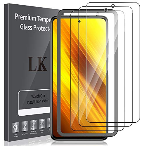 LK Compatible con Xiaomi Poco X3 NFC Protector de Pantalla,3