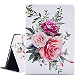 Ipad Air Case / Ipad Air 2 Case / Ipad 9.7 Inch 2017 2018 Case / Vimorco Soft TPU Back Cover with Adjustable Stand, Bump Drop Resistance Cover Protector for Ipad 5th 6th Gen, Auto Wake/Sleep, Bouquet