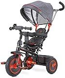 Triciclo Buzz silla giratoria en rojo