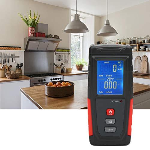 Probador de radiación Detector de radiación Alarma de luz y sonido Detector de campo electromagnético Hogar para fábrica