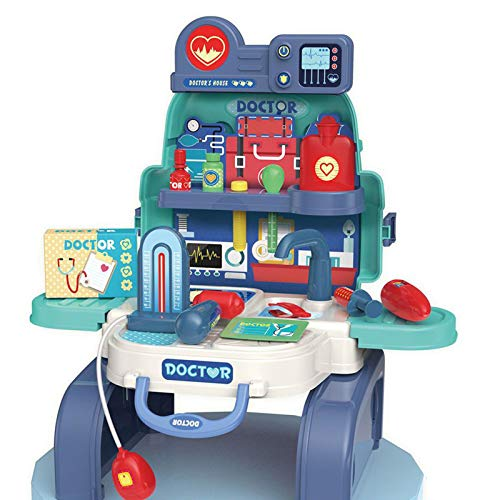 dontdo Play House Toys Mochila de cocina de alimentos interactiva creativa multi tamaños simulados comida cocina mochila para decoraciones de fiesta I