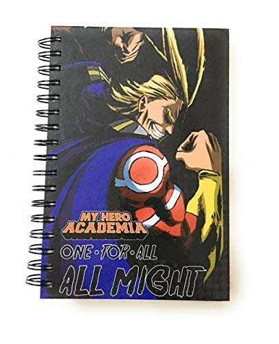 My Hero Academia Anime All Might One For All Hardcover Notebook Officially Licensed
