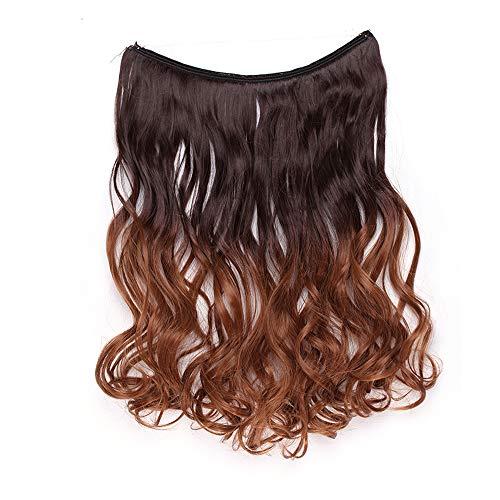Rajout Extension Cheveux Ondulé Fil Invisible Fils Transparent Monobande - Extension Cheveux Synthétique 50CM(20 pouces) - Hair Extensions