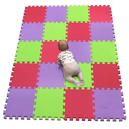 YIMINYUER Alfombra puzles para Bebe Puzzle Infantil Suelo Piezas Goma eva ninos de Suelo Grande Infantiles Rojo Púrpura Pastoverde R09R11R15G301020