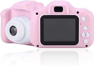 Topiky Mini cámara de Juguete para niños portátil de 2.0 Pulgadas IPS Color HD 1080P 1920 * 1080 Pantalla 4X Zoom Digital Niño de Dibujos Animados Diversión Cámara de Foto/Video Compatible (Rosado)