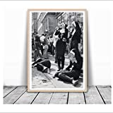 w15Y8 Rebellious Nuns Print Black and White Photography Poster Nuns Smoking Wall Art Picture Canvas Painting Home Room Wall Decor-50X75Cmx1 Frameless