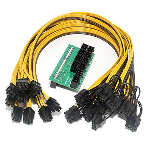 Breakout Board + Kabel, Starall Netzteil Breakout Board + 100 Kabel Für HP 1200 W/750 W Power Modul Bergbau Ethereum