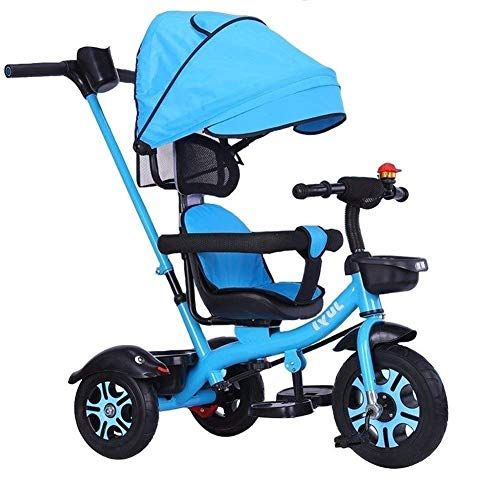 Training Bike Trike Kids' Tricycles Balance Bike Baby Carriage Children's Tricycle Riding Toys Awning with Handle Outgoing Passenger Toys Best for Gifts (Color : Pink) (Color : Blue)