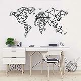 Mapa del mundo Arte Pegatinas de pared geométricas Hogar Sala de estar Deportes Fitness