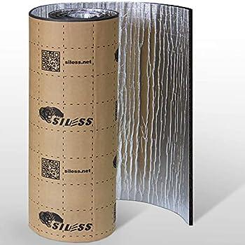 Siless Liner 157 mil 36 sqft Aluminum Foil Finish Car Sound Deadening & Heat Insulation Closed Cell Foam - PE Foam Sound Deadener