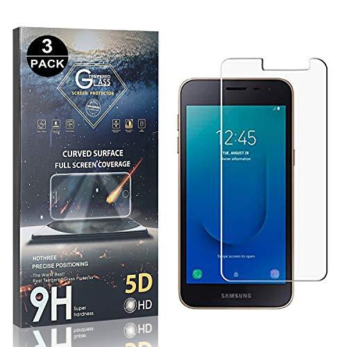 Bear Village® Verre Trempé pour Galaxy J2 Core, Anti Rayures Protection en Verre Trempé Écran pour Samsung Galaxy J2 Core, Dureté 9H, Ultra Transparent, 3 Pièces