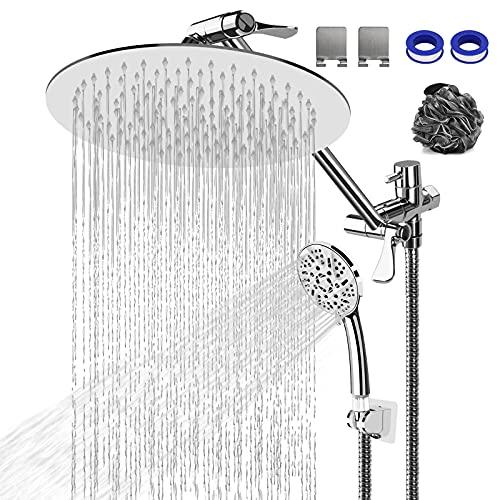 Rain Shower Head with Handheld Spray - 10